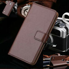 Luxury Genuine Real Leather Stand Wallet Case Cover For Samsung Galaxy S5 I9600