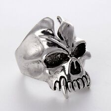 HOT Fashion Charms Jewelry Stainless Steel Mens/Womens Unique Silver skull Rings