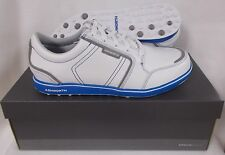 Ashworth Cardiff ADC Spikeless Golf Shoes G54282 - White/Grey/Airforce Blue