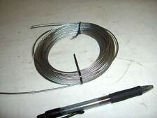 "NEW  3/32"",   .0937""   Stainless Steel 7x7 Aircraft Cable Wire Rope 25' 50' 100'"