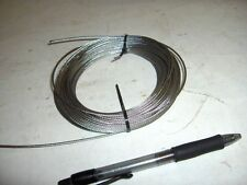 "NEW  1/32""  .0315""  Stainless Steel 7x7 Aircraft Cable Wire Rope 25' 50' 100'"