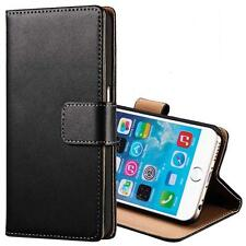 New Genuine Real Leather Flip Card Wallet Stand Case Cover For iPhone 6 6S Plus