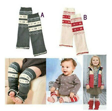 For Lovely Baby Toddler Girl Boy Snowflake Leggings Long Socks Arm Leg Warmers