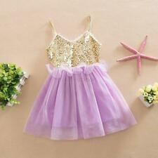 Princess Baby Girls Sequins Tulle Sleeveless Party Pageant Dress Gown Tutu Dress