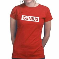 Genius Funny Slogan Joke Sarcastic Gift New Ladies T shirt Tee T-shirt Top
