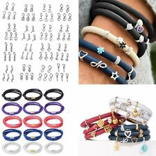 5pcs Endless Charms Beads 3 Layers Bracelet Magnetic Clasp Leather Bangle Gift