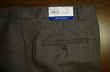 NWT $175 HART SCHAFFNER MARX WOOL MODERN DRESS PANTS MENS PLEAT 38 42 BROWN NEW