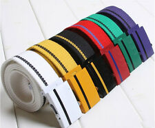 Unisex Casual Multi Color Canvas Webbing Belt Wide Belts Army Military Style DS