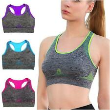 Fittness Yoga Women Sports Bra Crop Top Vest Stretch Bras Seamless Workout Tops