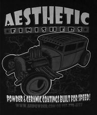 Aesthetic Finishers Black Out Rat Rod Hot Rod Shop T-Shirt