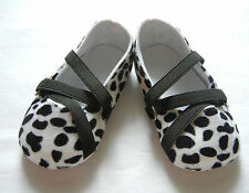 black white cow print princess girl  toddler shoes baby girl shoes UK size2,3