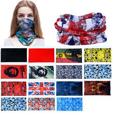 Multi Style Tube Scarf Bandana Head Face Mask Neck Gaiter Snood Beanie Headwear