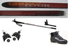 NEW CROSS TOUR XC cross country 75mm SKIS/BINDINGS/BOOTS/POLES PACKAGE - 157cm