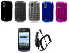 LCD + CC + TPU Cover Case for Straight Talk TracFone ZTE Midnight Z768G Phone