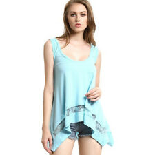 Fashion Women's Summer Casual Vest Tops Tank Sleeveless T-Shirt Blouse Size S-XL