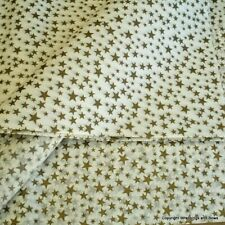 Gold Stars Patterned Tissue Paper Wrap Premium Quality 5 or 10 large sheets
