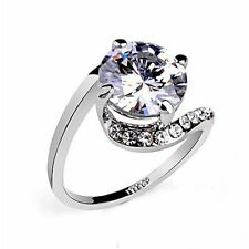 Fashion Jewelry - 18K White Gold Plated CZ Ring (FR211)