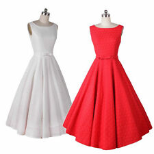 New Retro 1950s Audrey Hepburn Rockabilly Swing Pinup Housewife Party Dresses