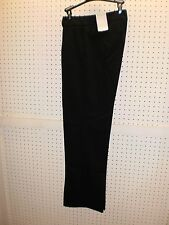 Liz Claiborne Misses Pleated Wide-Leg Black Trouser Dress Pants FREE Shpg NWTA