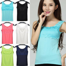Elegant Women Girl Lace Collar Tank Tops Blouse Casual Sleeve​less T-Shirt Vest