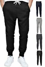 Mens Skinny Fit Gym Stretch Tracksuit Jogging Bottoms Pants Tapered Trousers