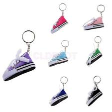 Fashion Canvas Shoe Sneaker Charm Pendant Purse Bag Keyring Key Ring Chain Gift