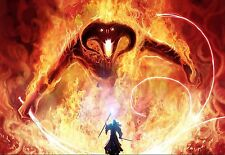 Lord of the Rings Balrog Gandalf the Grey Large Canvas Picture Wall Art