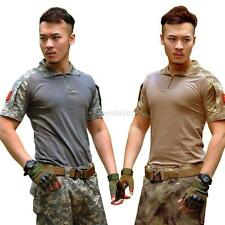 Men's Outdoor Military Tactical Camouflage Camo T-Shirt Army Combat Tee M-XXL