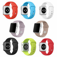 3Pcs Replacement Silicone Wrist Bracelet Sport Band Strap For Apple Watch Iwatch