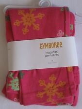 Gymboree Cheery All The Way Leggings 4 New Pink Snowflake Pants Girls Nwt Winter
