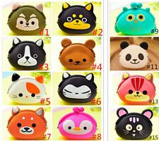 Lady Women Girl Storage Cute Animal Silicone Coin Small Bag Change Wallet Purse