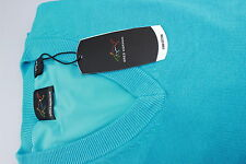 Greg Norman Fully Lined V Neck Golf Wind Jumper Bright Turquoise Blue M,L,XL,XXL