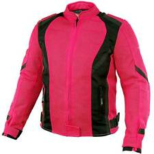 Xelement Impulse Women's Black/Hot Pink Mesh Tri-Tex Armored Motorcycle Jacket