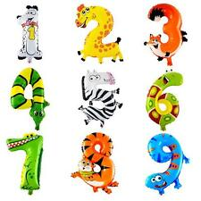 Animal Foil Number Balloons Kids Party Wedding Birthday Festival Decoration Gift