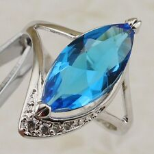 Size 5 6 7 8 9 10 Great Sky Blue Marquise Topaz Jewelry Gold Filled Ring R2463