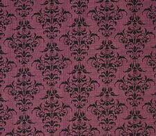 Chillingsworth's Spooky Ride Halloween Fabric Skull Damask Purple Premium Cotton