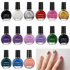 10ML 15 Colors Non-toxic Template Stamping Art Manicure Varnish Nail Polish New