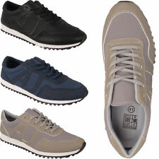 mens running shoes boys gym casual lace up sports walking mesh jogging trainers