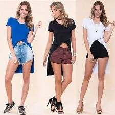 Women's Sexy Fashion Loose Rayon Tops Shirt Short Sleeve T-Shirt Casual Blouse