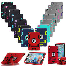 Shockproof Heavy Duty Hard Case & Stand Cover for Apple iPad 4 3 2 mini Air