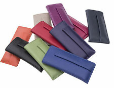 Prime Hide Soft Leather Spectacle case Glasses case with Pen Holder 10 colours