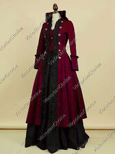 Victorian Edwardian Steampunk Military Coat Dress Punk Theatrical Clothing 176