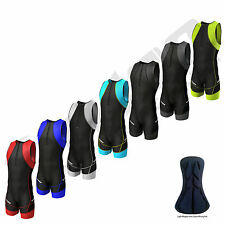 Zimco Compression Triathlon Suit Racing Tri Suit Bib Short Cycling Swim Run 7056