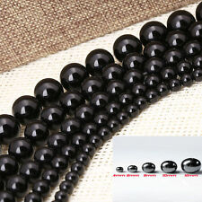 100Pcs Black Round Spacer Beads Magnetic Hematite Loose Beads For Craft 4-12mm