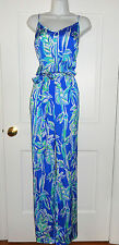 NWT LILLY PULITZER BLUE CRUSH BAMBOOM DEANNA JUMPSUIT M  XL