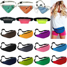 Multifunction Waist Belt Money Pouch Wallet Travel Bum Bag Sports Zip Fanny Pack