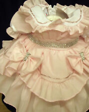 DREAM BABY GIRLS ROMANY PINK SCOOPED BLING ROMANY DRESS 0-3 3-6 6-12 18-24MONTHS