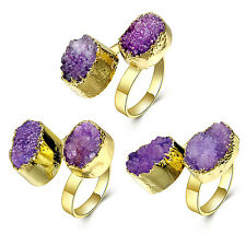 New Stylish Women Crystal Open Finger Ring Adjustable Size Trendy Party Jewelry