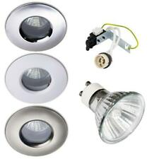 10 X 50W HALOGEN IP65 SOFFIT OUTDOOR / BATHROOM SHOWER DOWNLIGHTS GU10 240V