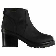 Firetrap Womens Boots Shoes Block Heel Casual Zip Fastening Ankle Height